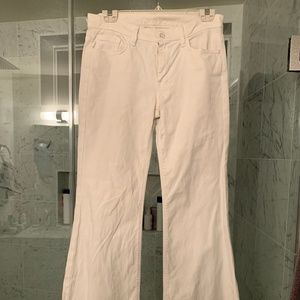 White 7 for all Mankind Ginger Flare Jeans